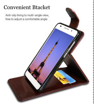 Leather Cover Case For Doogee X5 Max Flip PU Leather Wallet Case For Doogee X5 Max With Card Holder Stand Design Coque