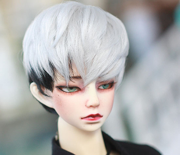 D01-P443 children handmade toy 1/3 Doll Accessories BJD/SD doll wig Silver grey short hair 1pcs